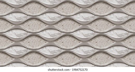 Digital Wall Tile Decor For Home, Ceramic Tile Design, Seamless colourful patchwork in Indian style, wallpaper, textile, web page background - 3D Illustration