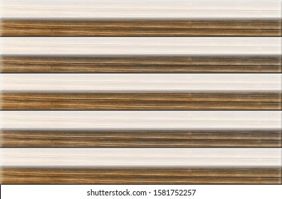 Digital wall tiles 3d rendering wooden color metallic vintage design with marble texture based floor, wallpaper, linoleum patchwork, textile, web page background. Kitchen design. Used for home decor.