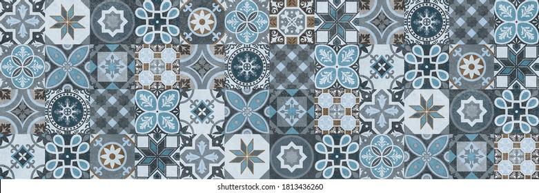 Digital wall tiles design,Print in Ceramic Industries Beautiful set of tiles in portuguese, spanish, italian style in wall decor design, Ceramics, tiles, mosaic, abstract Motif wall art,