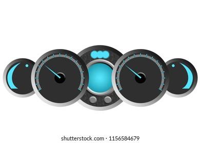 Digital watches background