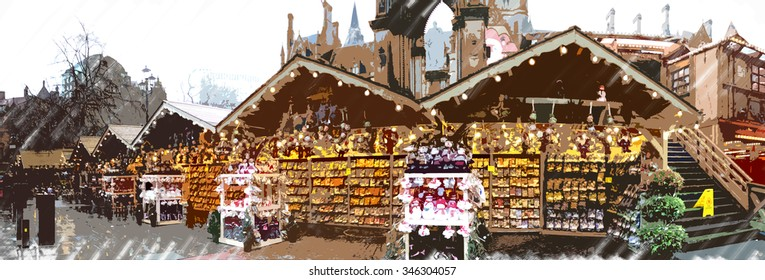 Manchester Christmas Markets Images, Stock Photos & Vectors