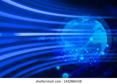 digital world abstract data deep learning hologram robotic, ai technology neon glow, molecule of chemical atom, futuristic cyber network, background illustration 3d