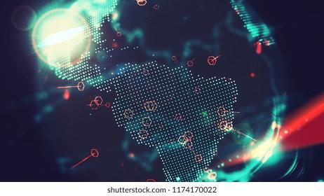 Digital World Earth Spinning