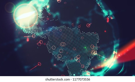 Digital World With South America Perspective