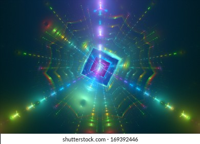 Digital world, system core, abstract background