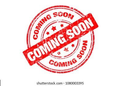 "Digitally created ""Coming Soon"" rubber stamp"