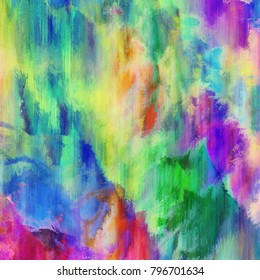 A digitally designed abstract background texture with vibrant paint strokes.