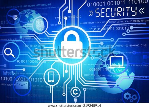 Imagen digital de concepto de seguridad en línea generada
