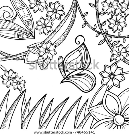 Royalty Free Stock Illustration Of Digitally Hand Drawn Butterfly