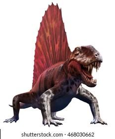 Dimetrodon 3D illustration