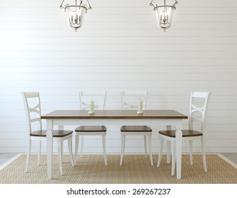 Dining-room interior. 3d render.