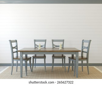 Dining-room interior. Provence. 3d render.