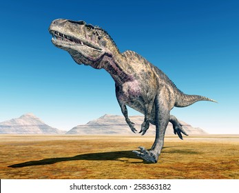 Dinosaur Acrocanthosaurus Computer generated 3D illustration