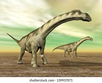 Dinosaur Camarasaurus Computer generated 3D illustration