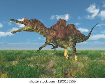 Dinosaur Ichthyovenator Computer generated 3D illustration