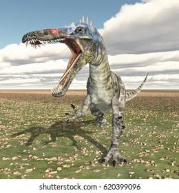 Dinosaur Suchomimus Computer generated 3D illustration