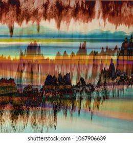 Dip dye texture repeat modern pattern