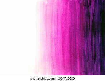 Dip dyed abstract watercolor background in pink and purple