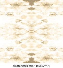 Dip Dyed Fabric. Vanilla Boho Pattern. Ashen Grey Texture. Ikat Wallpaper. Taupe Ornament. Shibori Pattern. Tie Dye Texture. Beige Seamless Zig Zag Design. Natural Linen Background.
