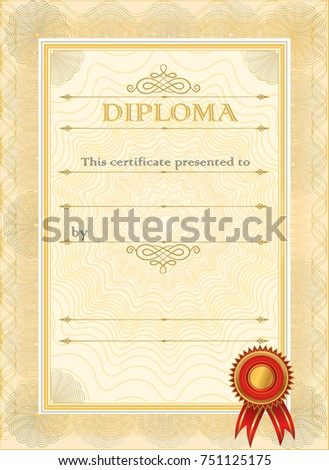 Royalty Free Stock Illustration of Diploma Blank Certificate ...