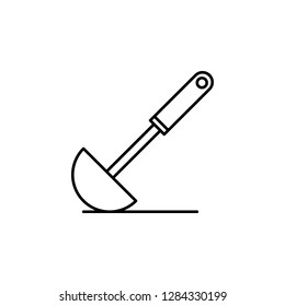 dipper, ladle, scoop,  icon. Element of kitchen utensils icon for mobile concept and web apps. Detailed dipper, ladle, scoop,  icon can be used for web and mobile