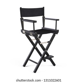 Director Chair isolated on white. 3d rendering