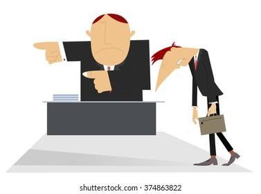 Director layoffs his sad employee