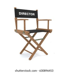 Director's chair isolated on white 3d illustration