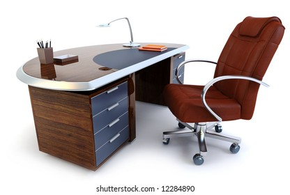 director's office isolated 3d rendering