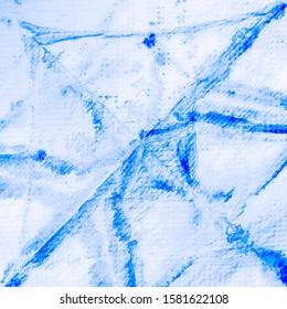 Dirty Art Border. Aquamarine Tie Dye Effect. Aquamarine Textured Dirty Prints. Retro Mixed Patterns. Indigo Watercolor. Shibori Patterns. Bright Background.