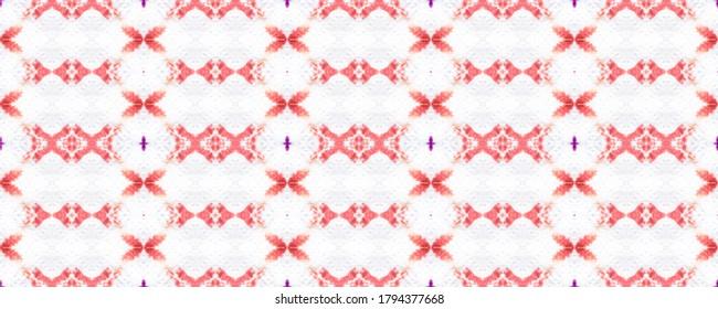 Dirty Art print. Seamless Ethnic Pattern. Bright Blots. Watercolor Blur Ornamental. Dashiki Print Watercolor drawn. Fair White. Mirror wallpaper. Geometry.