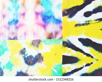 Dirty Art Wallpaper. Rainbow Hand Painting Fabric. Trendy Modern Composition. Colorful Painted Gradient. Artistic Tie Dye Print. Beautiful Brushed Graffiti. Watercolor Background.