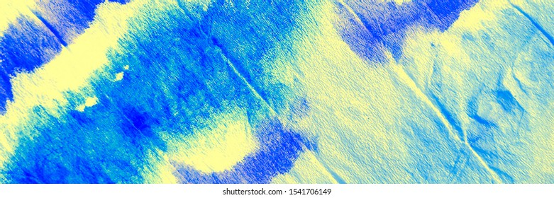 Dirty Art Wallpaper. Sea Depth With Gold Handmade Vintage Pattern. Ocean Bottom Color Crumpled Dyed Textile. Yellow Blue Green Tie Dye Watercolor Art. Rough Tie Dye Design.