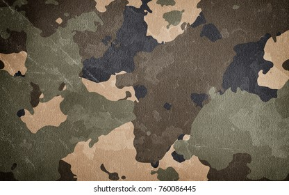 Dirty camouflage. Military background.