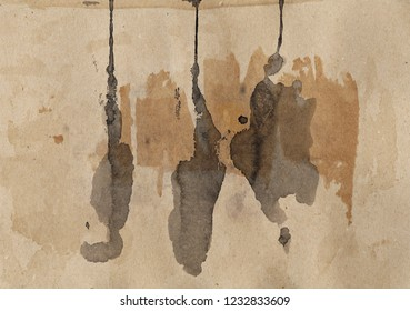 Dirty paper. Stains, blots, spots. Abstract grunge background. High quality scan.