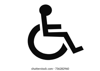 disability disabled person on wheelchair or invalid chair on white background