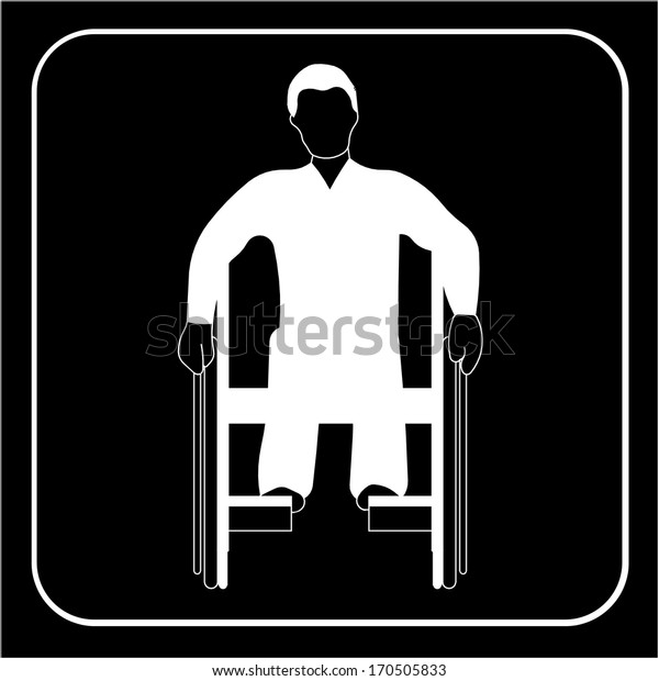 disabled people wheelchair ramp icon sign