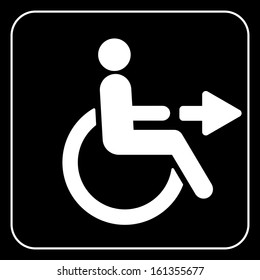 disabled people wheelchair sign