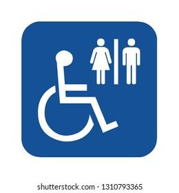 Disabled toilet symbol icon