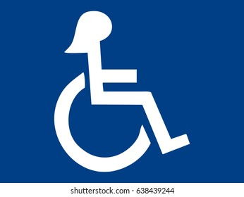 Disabled woman