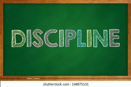 Discipline on chalkboard