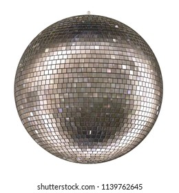 Disco ball isolated on white background 3d rendering