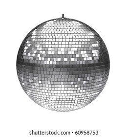 disco ball isolated on white