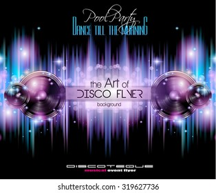 disco club flyer template your music stock illustration 319628075