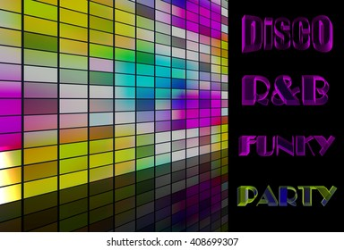 Disco Funky R&B music party concept