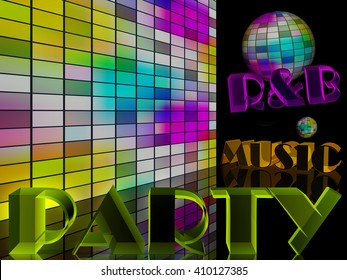 Disco music night party concept