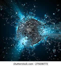 Disco planet explosion
