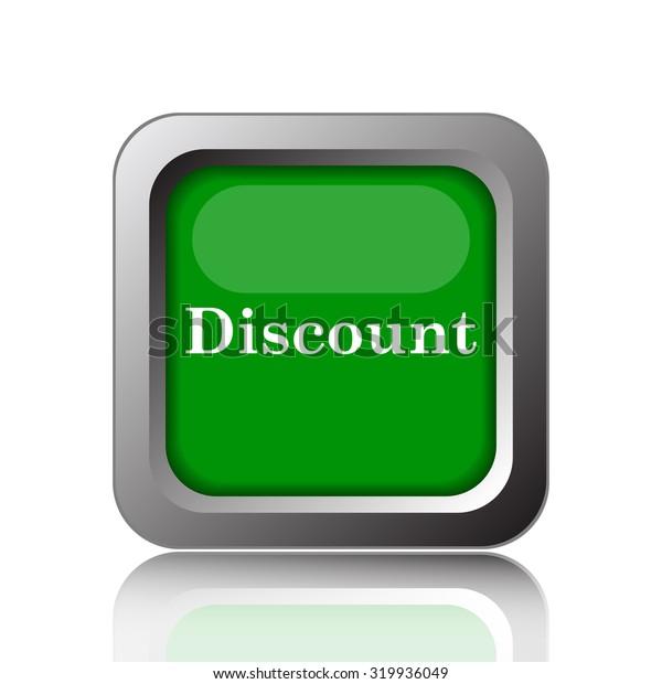 Discount icon. Internet button on white background.