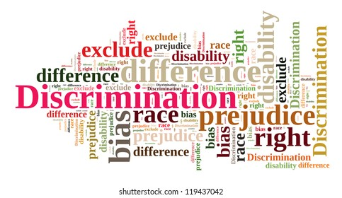 Discrimination in word cloud