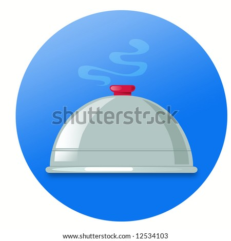 Dish Cover Hot Food Stock Illustration 12534103 Shutterstock